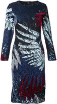 Romance Was Born short feather applique dress - women - Silk/Polyester/Viscose/Nylon - 8