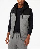 Sean John Big & Tall Men's Quilted Fleece Zip Hoodie