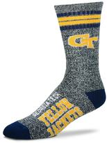 For Bare Feet Adult Georgia Tech Yellow Jackets Got Marbled Crew Socks