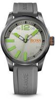 Hugo Boss 1513049 Grey Silicone Strap 3-Hand Quartz Paris Watch One Size Assorted-Pre-Pack