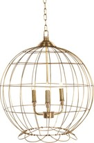 The Well Appointed House Three Light Brass Globe Chandelier-ON BACKORDER UNTIL DECEMBER 2016