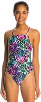 Illusions Activewear Women's Natalie Multi Print Thin Strap One Piece Swimsuit 7533243