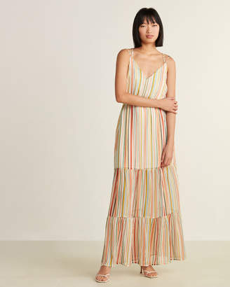BB Dakota Maxi-Mum Impact Striped Long Dress