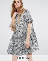 Reclaimed Vintage Smock Dress In Leopard