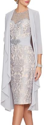 Ysmo Women's Lace Mother Of The Bride Dress Rhinestone Belt W/ Jacket 14