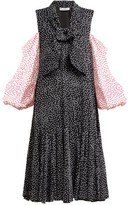 J.W.Anderson Polka-dot Cold-shoulder Dress - Womens - Black Multi