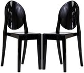 Modway Casper Dining Chairs Set of 2 in Black