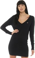 Fred Perry Womens Amy Knitted Dress Black