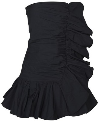 RED Valentino Strapless ruffle dress