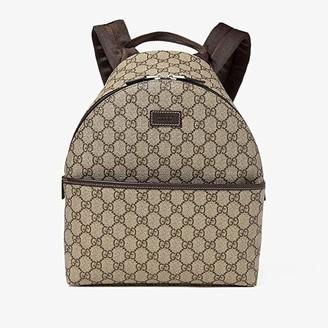 Gucci Kids Children's GG Supreme Backpack (Little Kids/Big Kids) (Brown) Backpack Bags
