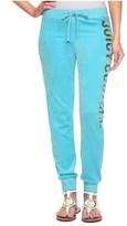 Juicy Couture Logo Velour Long Live Jc Slim Pant