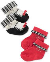 Calvin Klein 2-Pk. Houndstooth Ankle Socks Set, Baby Girls (0-24 months)
