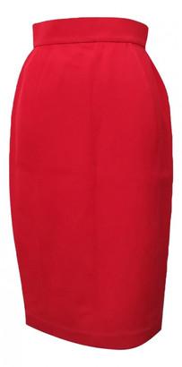Thierry Mugler Red Wool Skirts
