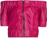 Leka Pink Leather Top