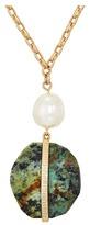 Lauren Ralph Lauren 36 Stone Pendant with Textured Metal Necklace Necklace