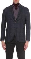 Boglioli checked wool-blend jacket
