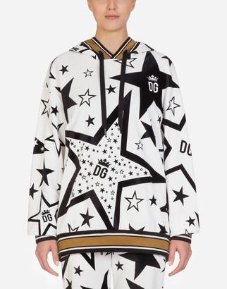 Dolce & Gabbana Millennials Star Print Jersey Hoodie
