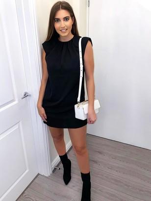 AX Paris Shoulder Pad Dress - Black