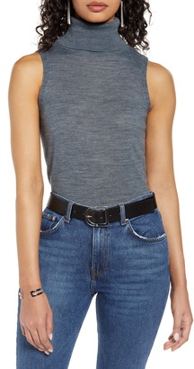 Halogen Sleeveless Turtleneck Top