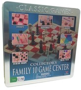 Cardinal Collector's Wood Family 10 Classic Board Game Set