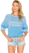 Wildfox Couture Walking On Sunshine Pullover in Blue. - size S (also in XS)