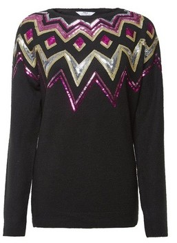 Dorothy Perkins Womens Tall Black Fairisle Jumper, Black