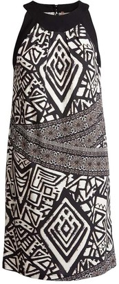 Conquista Sleeveless Print Dress In Print Fabric
