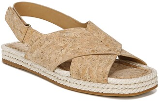 Vince Essen Leather Slingback Espadrille Sandal