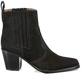 Ganni Women's Western Suede Ankle Boots