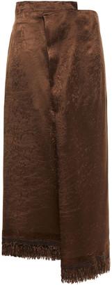 Marni Wrap-effect Satin Midi Skirt