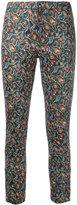 Isabel Marant foliage print skinny trousers - women - Cotton/Lamb Skin/Spandex/Elastane - 36