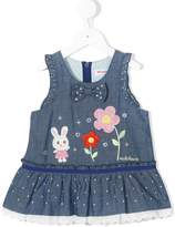 Mikihouse Miki House bunny detail denim dress