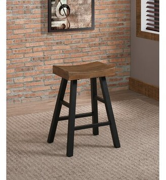 "American Heritage Atterbury 26"" Bar Stool Color: Reclaimed"