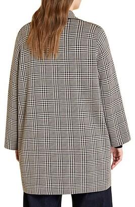 Marina Rinaldi, Plus Size Madre Wool-Blend Glen Plaid Coat