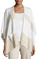 Neiman Marcus Cashmere Pocketed Shawl