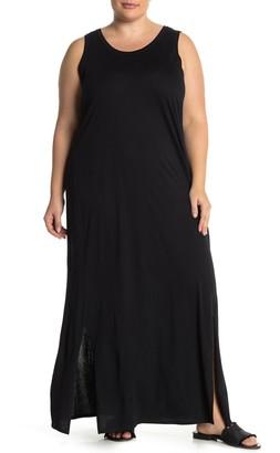 Susina Side Slit Maxi Dress (Plus Size)