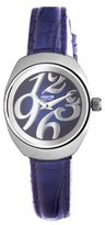 Jowissa Women's J4.090.M Como Stainless Steel Blue Genuine Leather Sunray Dial Watch
