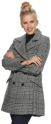 Iz Byer Juniors' Double Breasted Menswear Coat