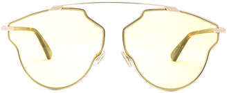 Christian Dior So Real Pops Sunglasses in Gold & Yellow | FWRD
