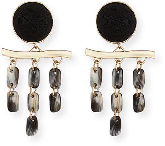 Akola Greta Horn Dangling Clip Earrings