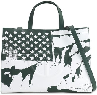 Telfar Medium Flag Print Shopper Tote Bag