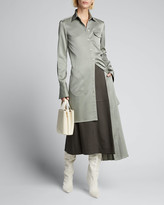Peter Do Side Pleated Suiting Skirt
