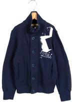 John Galliano Boys' Logo Print Zip-Up Sweatshirt