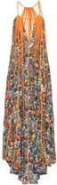 Stella McCartney Klara floral pleated silk maxi dress