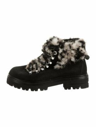 Montelliana Suede Combat Boots Black