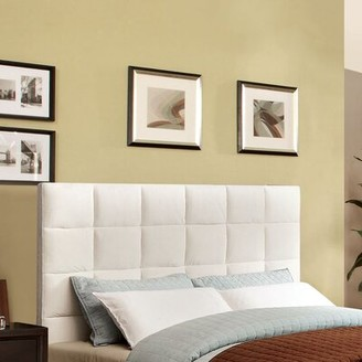 Hokku Designs Choco Upholstered Panel Headboard Size: Full to Queen, Upholstery: Ivory