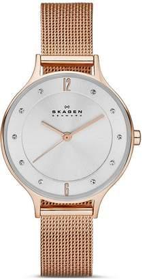 Skagen Anita Mesh Bracelet Watch, 30mm