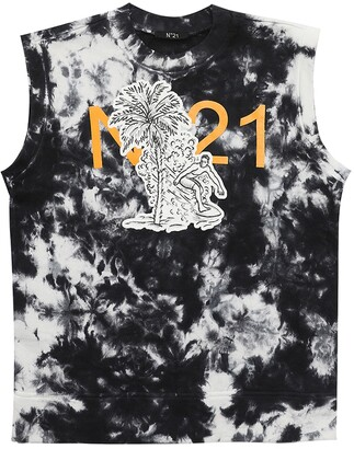 N°21 Printed Cotton Jersey T-Shirt