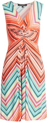 Ilse Jacobsen Chevron Twist Front Sleeveless Dress