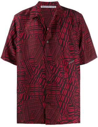 Alexander Wang Alexanderwang alexanderwang short-sleeved logo shirt red